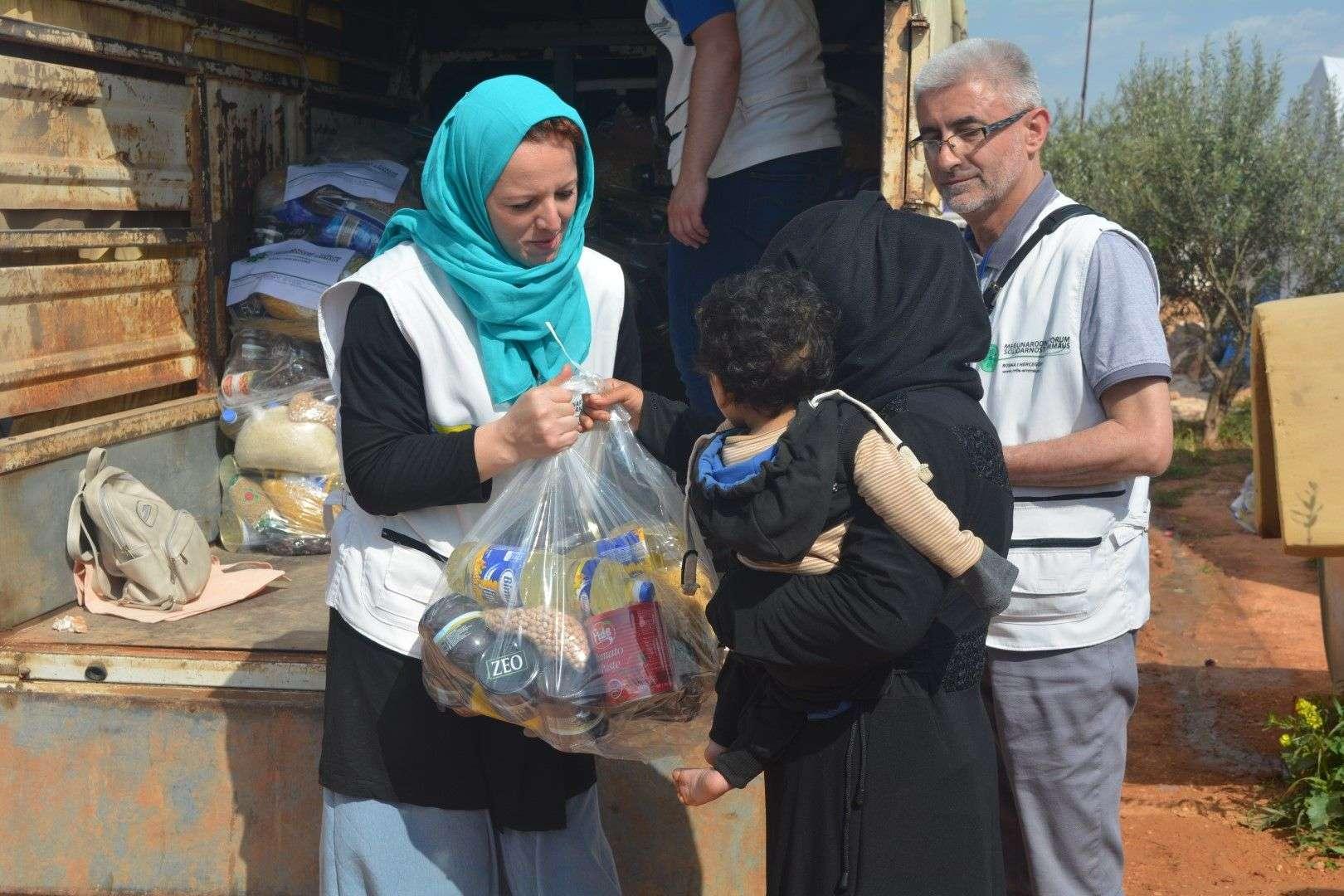 Pomoć stigla u ruke sirijskih izbjeglica