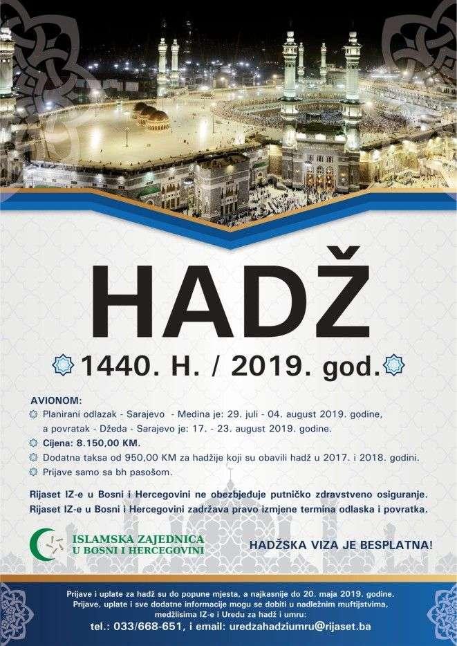 Počele prijave za odlazak na hadž 2019. godinu