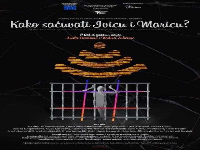 predstava za djecu ''kako sačuvati ivicu i maricu'' na sceni narodnog pozorišta tuzla