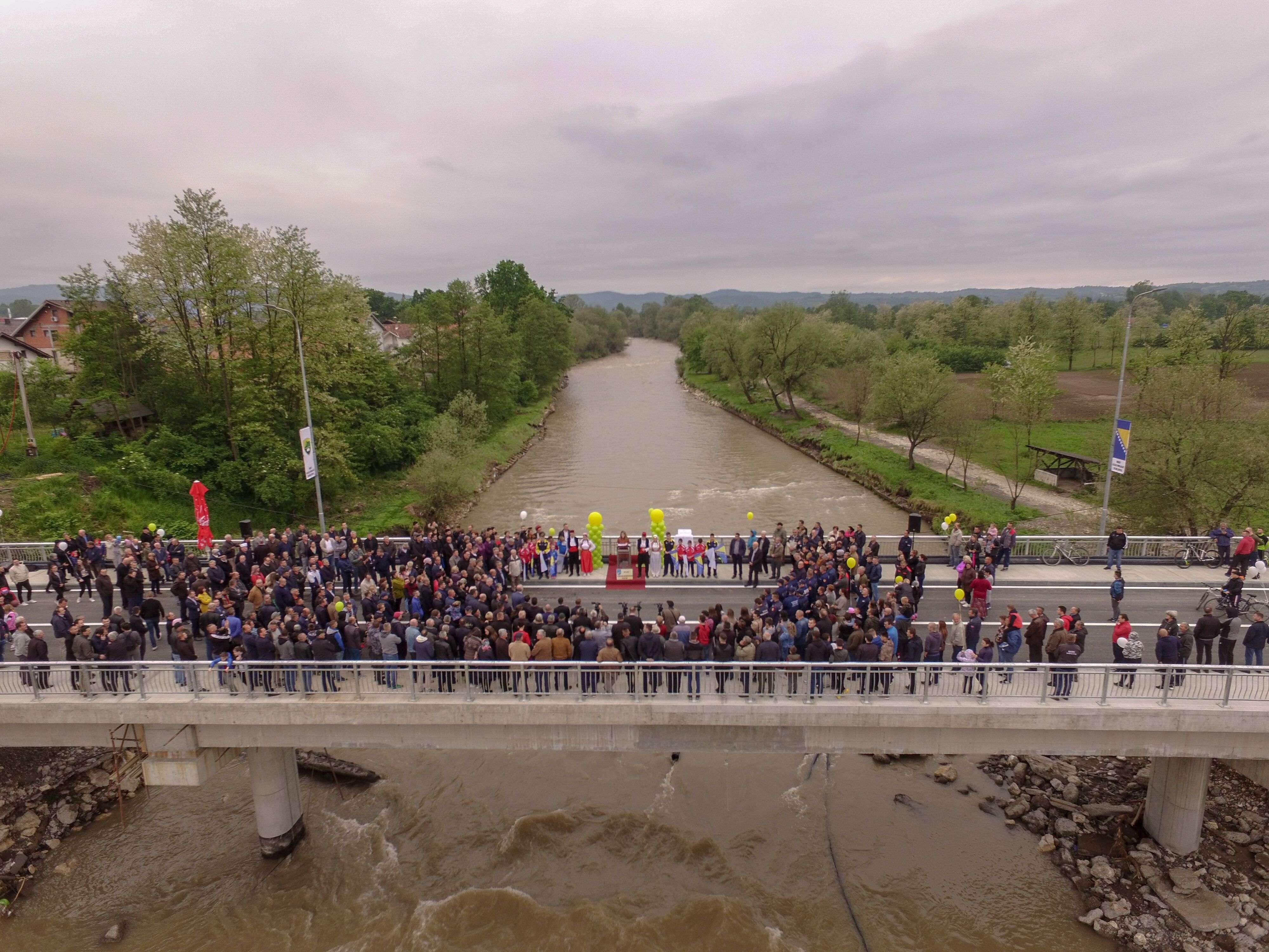 Svečano pušten u promet most na rijeci Usori, vrijednosti 1.5 miliona KM