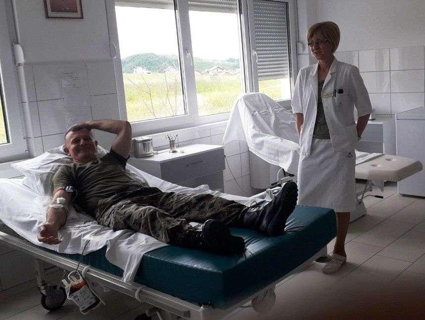 akcija dobrovoljnog darivanja krvi u kantonalnoj bolnici travnik