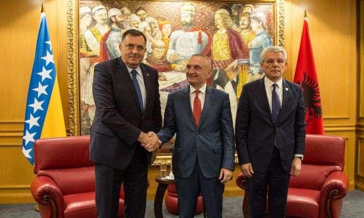 Dodik i Džaferović s albanskim predsjednikom Metom o saradnji dvije države