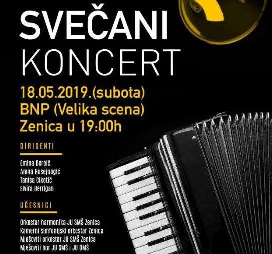 Svečani koncert JU Srednja muzička škola Zenica u subotu 18. maja