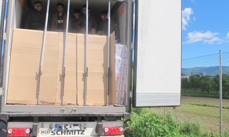 ilegalni migranti otkriveni u teretnim vozilima