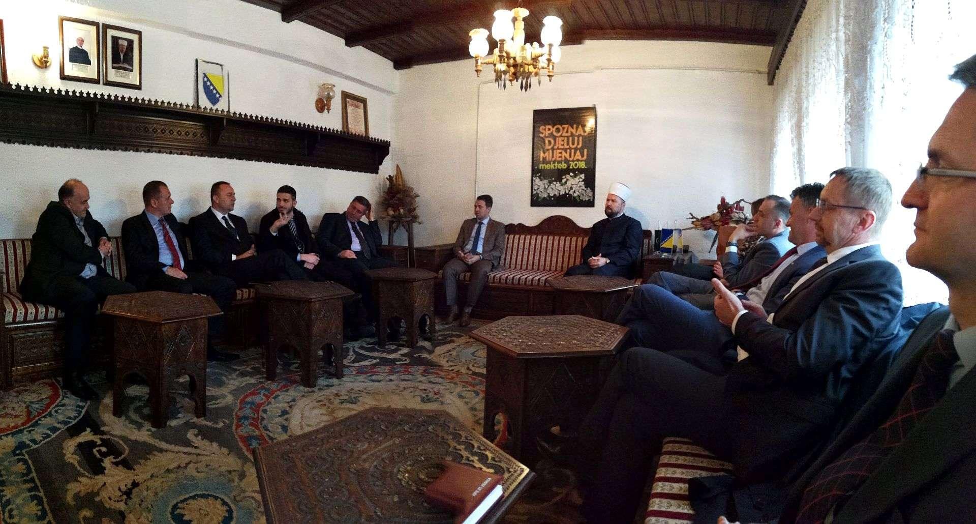 Novoizabrani muftija zenički priličio prijem za delegaciju Vlade Zeničko-dobojskog kantona