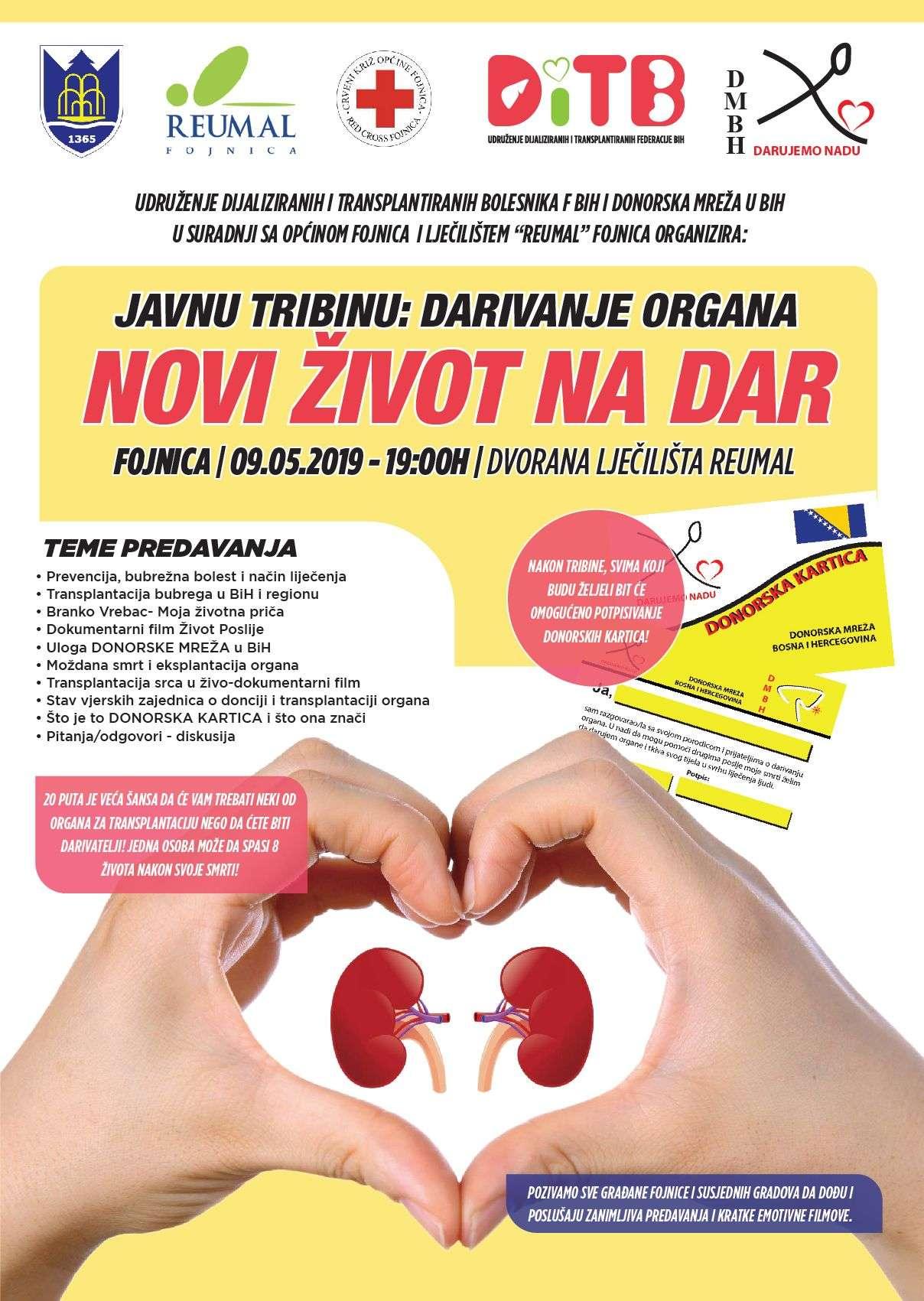 """Tribina :"""" Darivanje organa-Novi život na dar"""""""