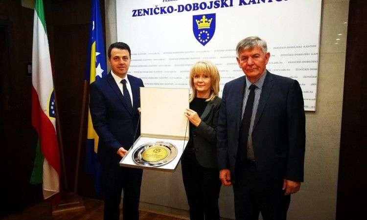 Premijer Ganić primio delegaciju Nogometnog saveza ZDK