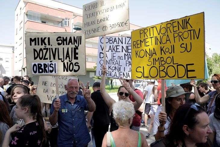 prosvjed na hipodromu zbog planirane gradnje 'zagrebačkog manhattana'