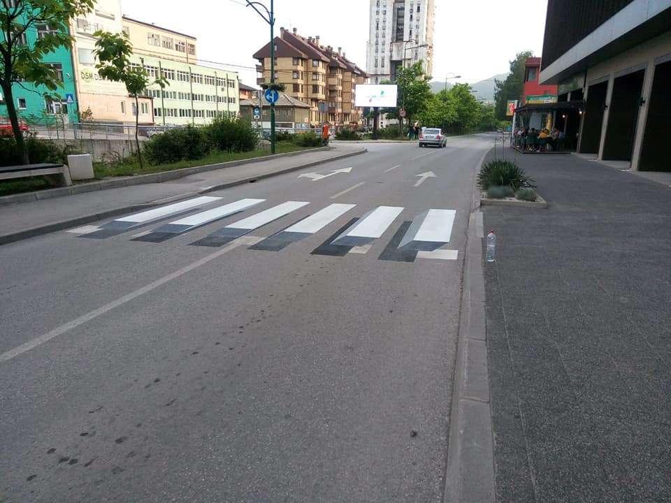 (foto) kakanj dobio prve 3d pješačke prelaze