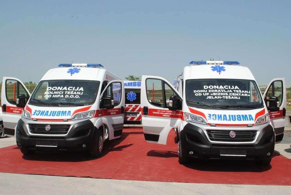 hifa donirala vozilo za opću bolnicu u tešnju: donacija vrijedna preko 120 hiljada maraka