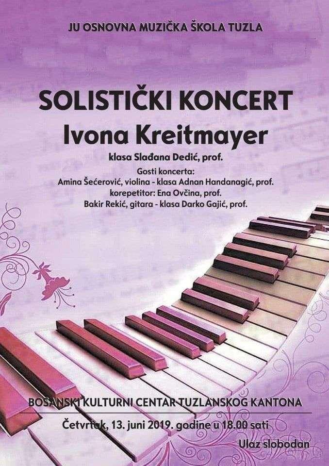 u četvrtak solistički koncert ivone kreitmayer u bkc-u tuzla