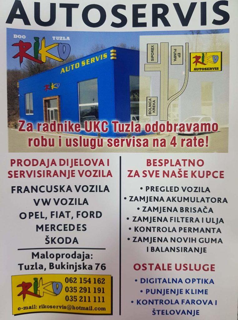 AUTOSERVIS 'RIKO' TUZLA/ Da vaš limeni ljubimac bude najpouzdaniji prijatelj na cesti!