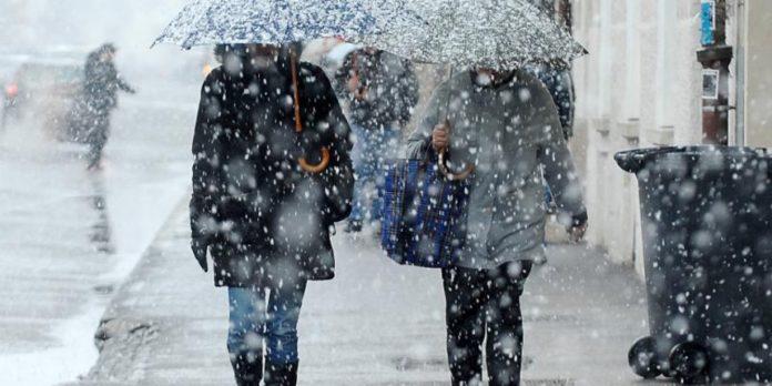 Sutra vjetrovito i oblačno sa slabim snijegom ili susnježicom