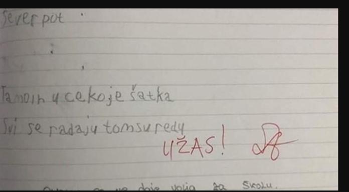 Kad je mama vidjela što je učiteljica napisala njenom djetetu, napisala joj je poruku u bilježnici