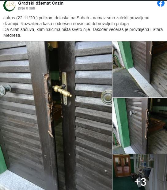 (FOTO) Opljačkana džamija u BiH: Ukradeni dobrovoljni prilozi