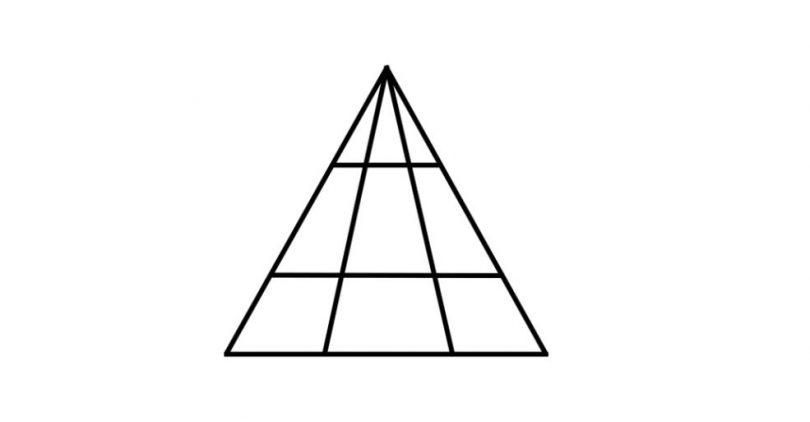možete li izbrojati sve trokutove na slici?