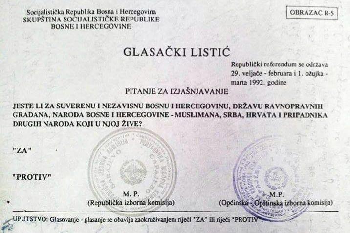 Danas je Dan nezavisnosti BiH