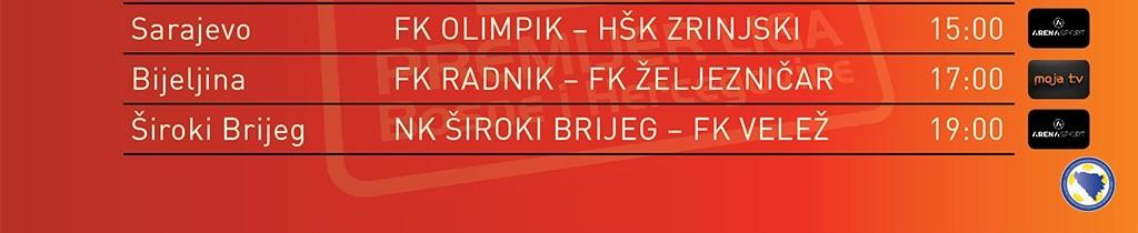 Danas na rasporedu preostali mečevi dvadeset i šestog kola u okviru Premijer lige BiH, osiguran direktan prijenos dva susreta!