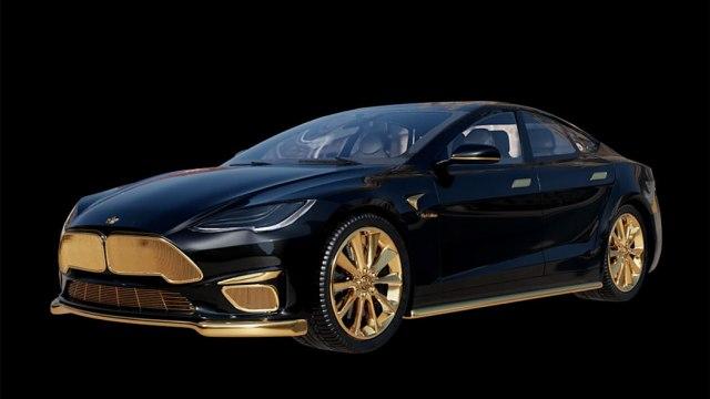 Tesla ukrašena zlatom košta 300. 000 dolara