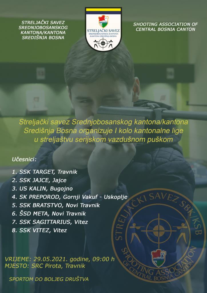 Sutra u Travniku I kolo Kantonalne lige u streljaštvu