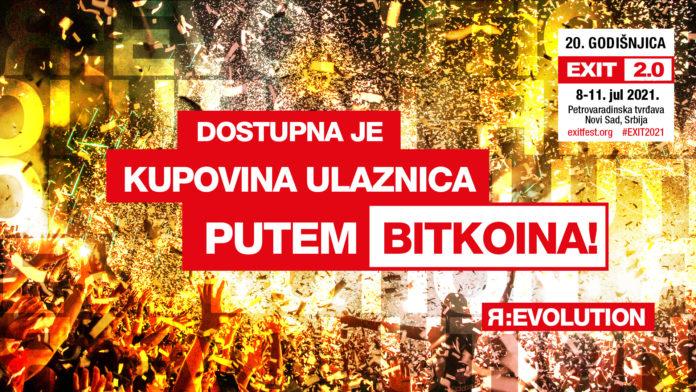 EXIT festival je prvi veliki festival na svijetu koji je omogućio plaćanje Bitcoinom