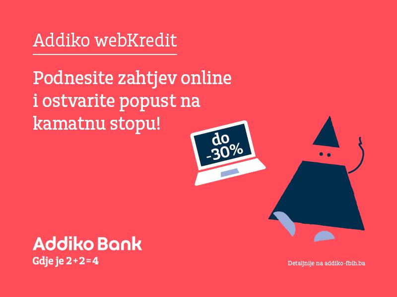 addiko webkredit – podnesite online zahtjev za kredit, brzo i jednostavno