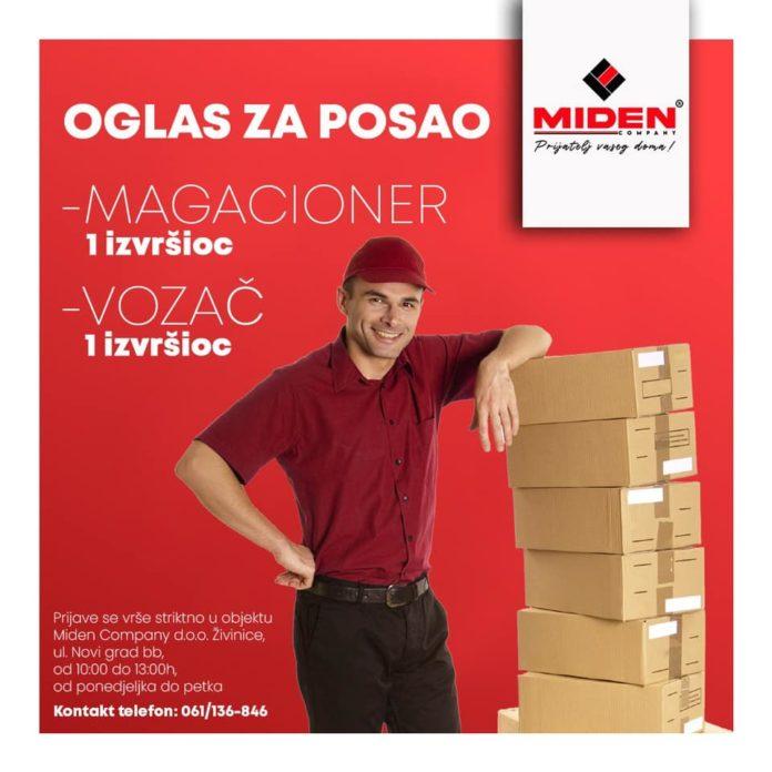 Miden Company traži radnike