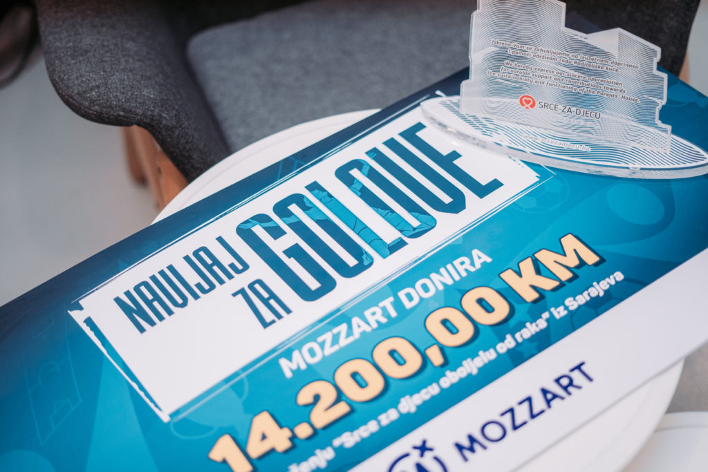 """Završena akcija """"Navijaj za golove"""": Mozzart donirao 14.200 KM """"Srcu za djecu"""""""