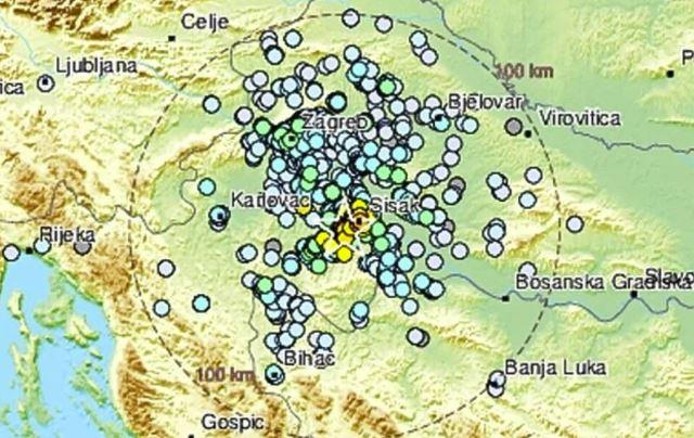 novi zemljotres uznemirio građane petrinje