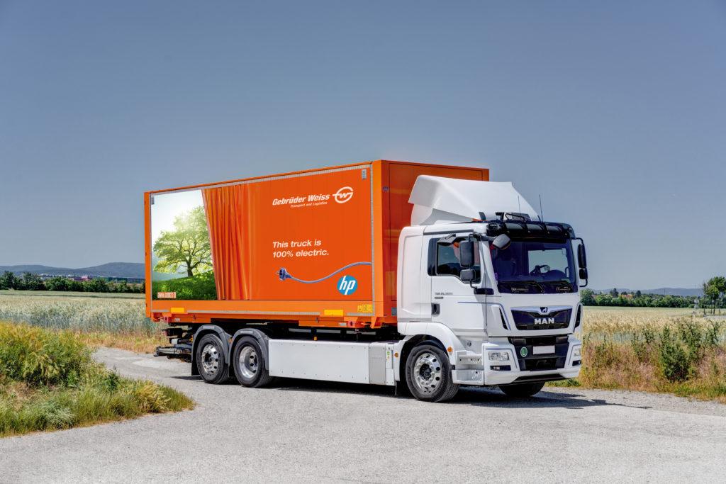 Gebrüder Weiss koristi električne kamione za transport HP proizvoda u centralnoj i istočnoj Evropi