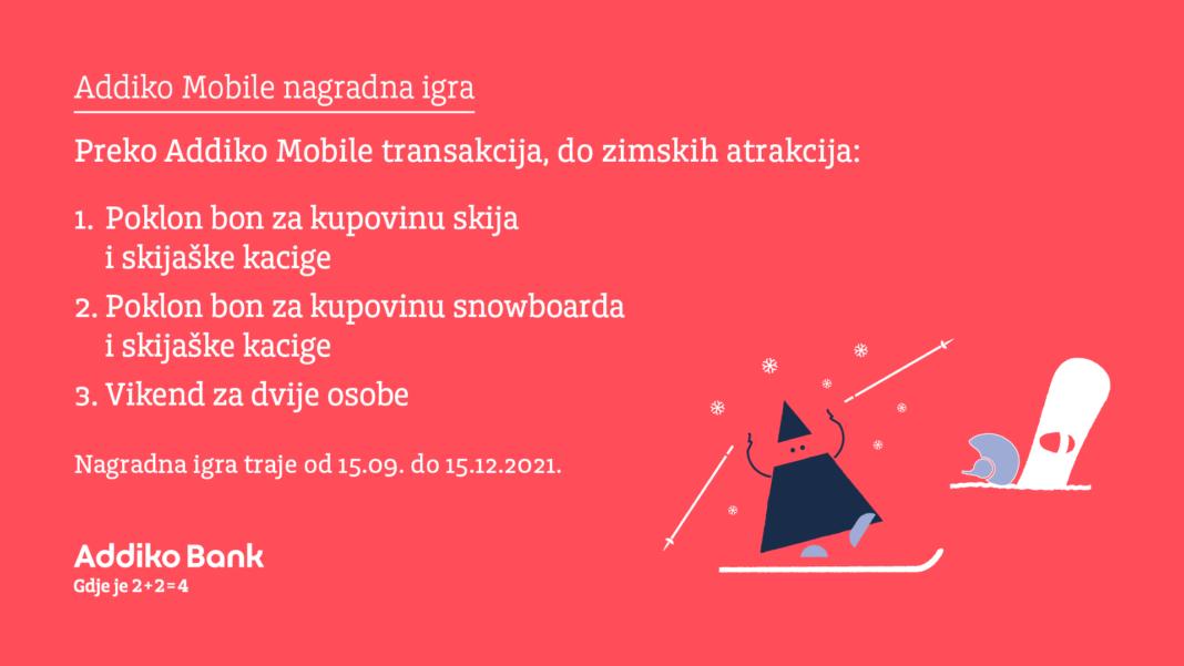 preko addiko mobile transakcija do zimskih atrakcija