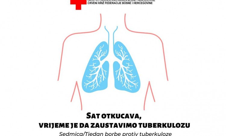 crveni križ fbih od 14. septembra obilježava sedmicu borbe protiv tuberkuloze