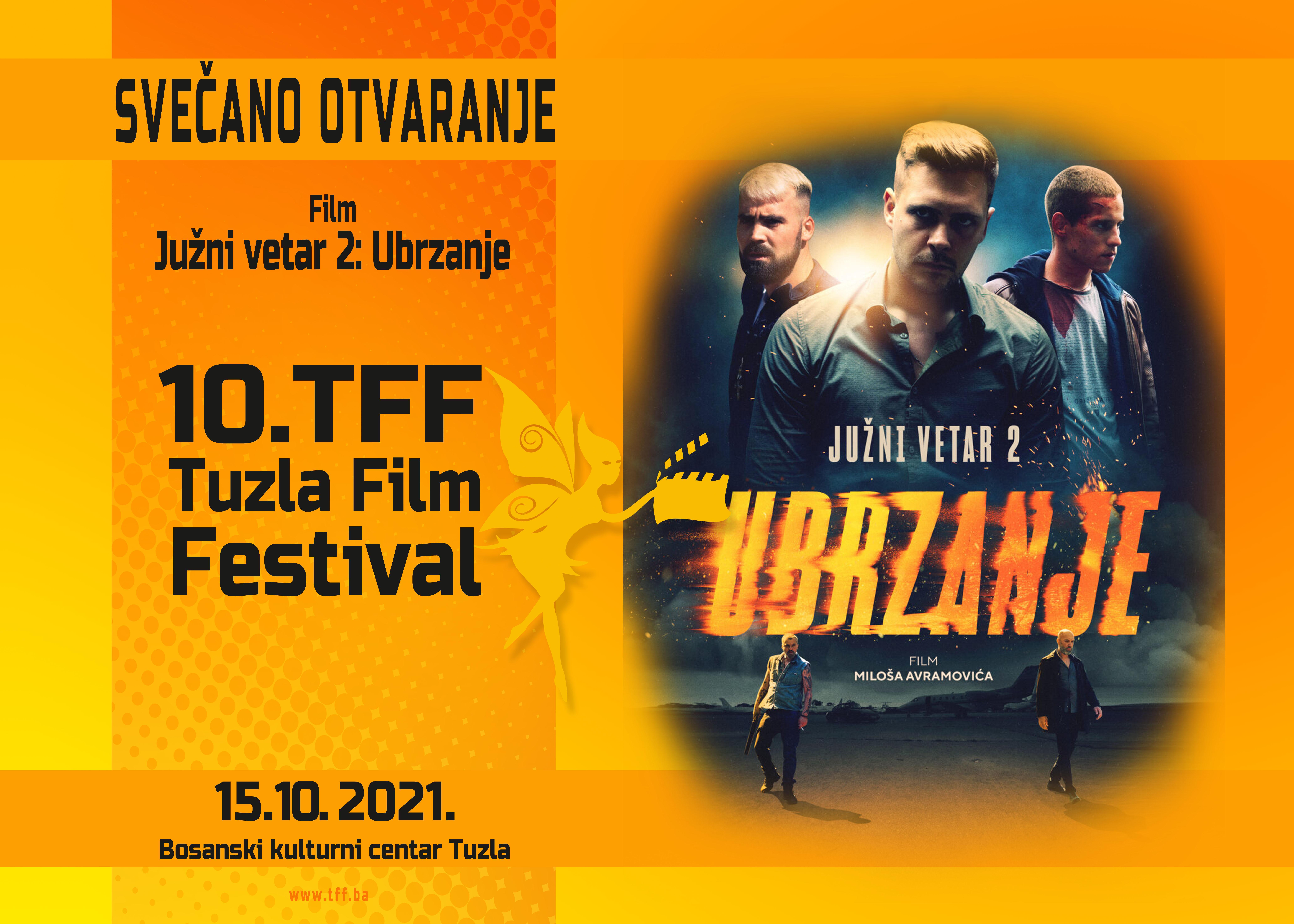 ''južni vetar 2: ubrzanje'' otvara jubilarni 10. tuzla film festival