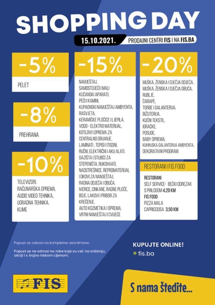 shopping day fis-u / dan super kupovine i niskih cijena